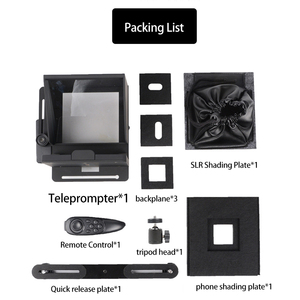 Image 2 - Portable Mini Teleprompter for Phone DSLR Recording Live Broadcast Mobile Teleprompter Artifact Video With Remote Control VS T1