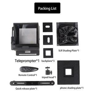 Image 2 - Taşınabilir Mini Teleprompter için telefon DSLR kayıt canlı yayın mobil Teleprompter artefakt Video uzaktan kumanda ile VS T1