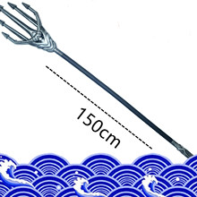 Toy Aquaman Trident Cosplay Golden of Superhero 165cm Neptune-Toy Silver-Color