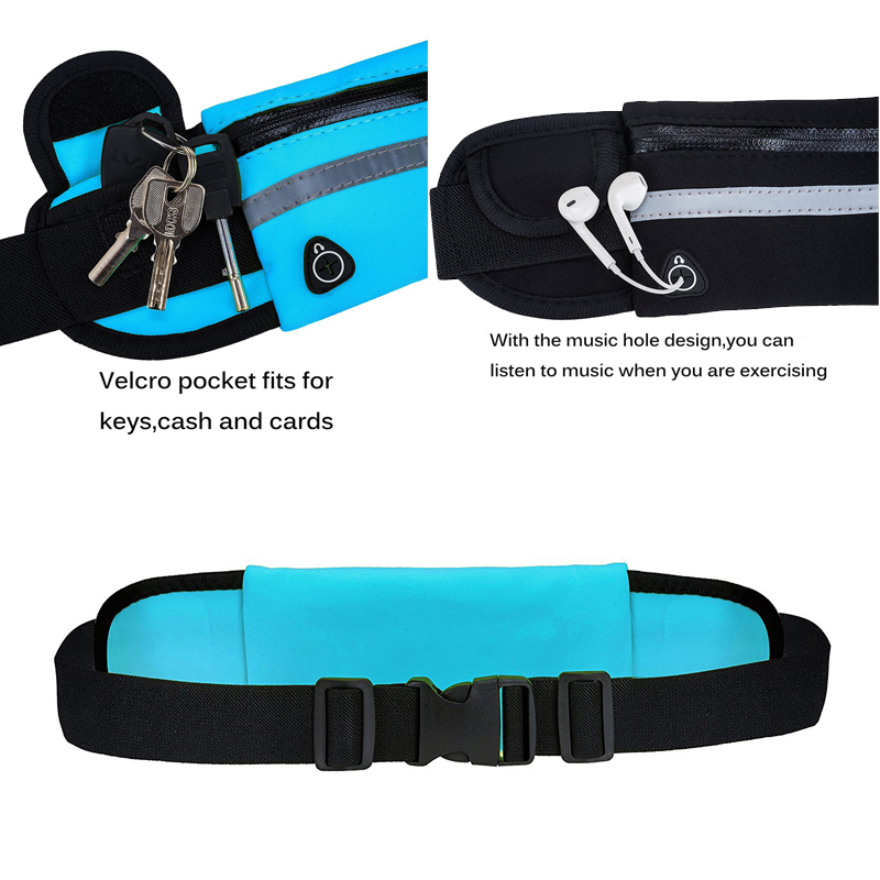 Travel multifunctional Sports pocket mini fanny pack for men women Portable convenient USB waist pack  waterproof phone belt bag 4