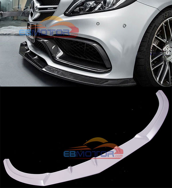 UNPAINTED Fiber glass Front Lip spoiler for Benz W205 C63 Coupe 2015UP M155F
