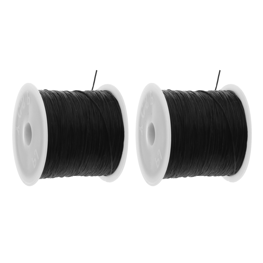 50m/Roll Elastic String, Stretchy Bracelet String Bead Cord for Bracelet, Beading and Jewelry Making Findings(2 Rolls, 1mm)