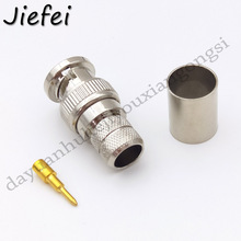 20 100Pcs Wholesale New BNC male plug crimp for RG8 LMR400 RG213 RG165 RG393 COAXIAL RF Connector