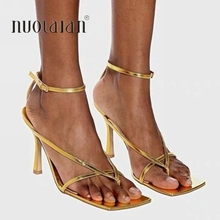 2020 Summer New Fashion Pinch Narrow Band Women Gladiator Sandal