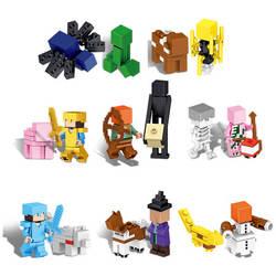 Серия MinecraftING Steve The Big Fig с попугаем, модель, строительный блок, кирпичные игрушки для детей, подарок, игрушки для детей
