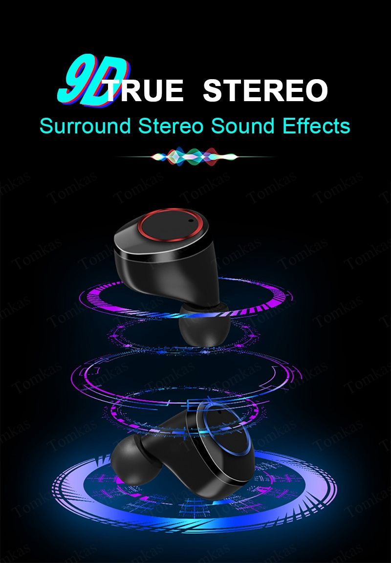 TOMKAS 4000mAh TWS Wireless Earphone Bluetooth 5.0 Earphone Power Display Touch Control Sport 9D Stereo Cordless Earbud Headset (10)