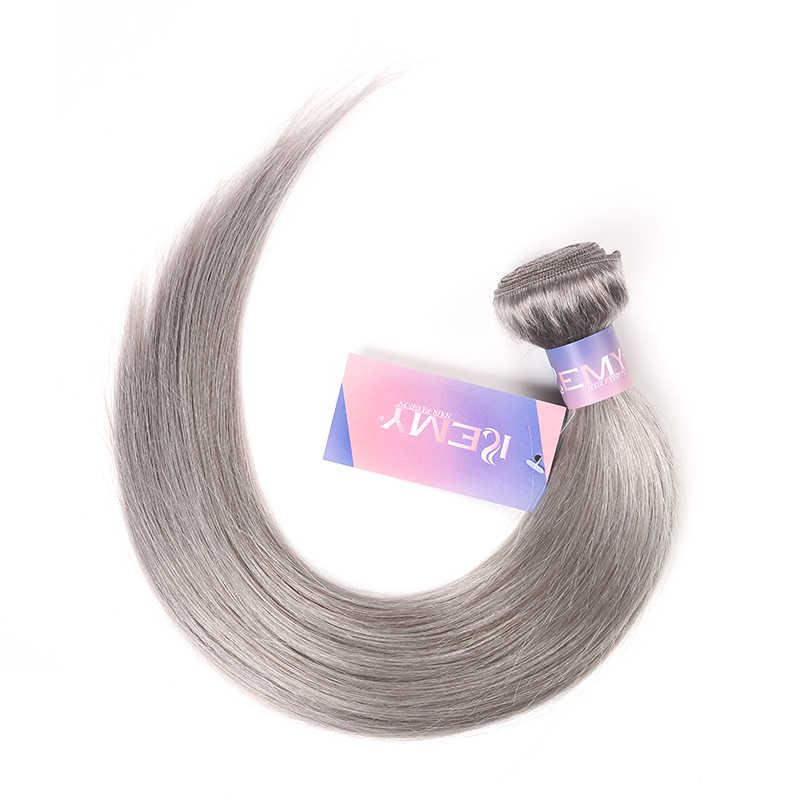 Silver Grey Braziliaanse Hair Weave Bundels Kemy 1 Pc Roze Menselijk Haar Bundels 10-26 Inch Menselijk Haar Uitbreiding non-Remy Haar Bundels