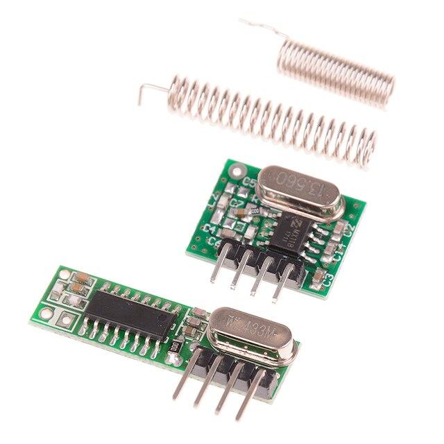 Módulo inalámbrico de Control remoto para Arduino Uno, Kit de bricolaje de 433 Mhz, receptor y módulo transmisor de RF superhelicoidal para Arduino Uno, 1 ud.