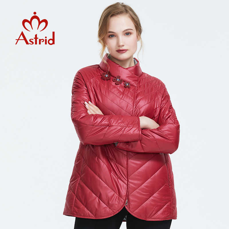 Astrid 2019 Autumn new arrival women jacket top red color outerwear high quality short style women autumn coat AM-6145
