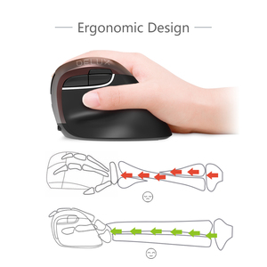 Image 5 - Delux M618Mini Jet Ergonomic Mouse Wireless Vertical Mouse Bluetooth USB 2.4GHz RGB Rechargeable Silent click Mice for Office