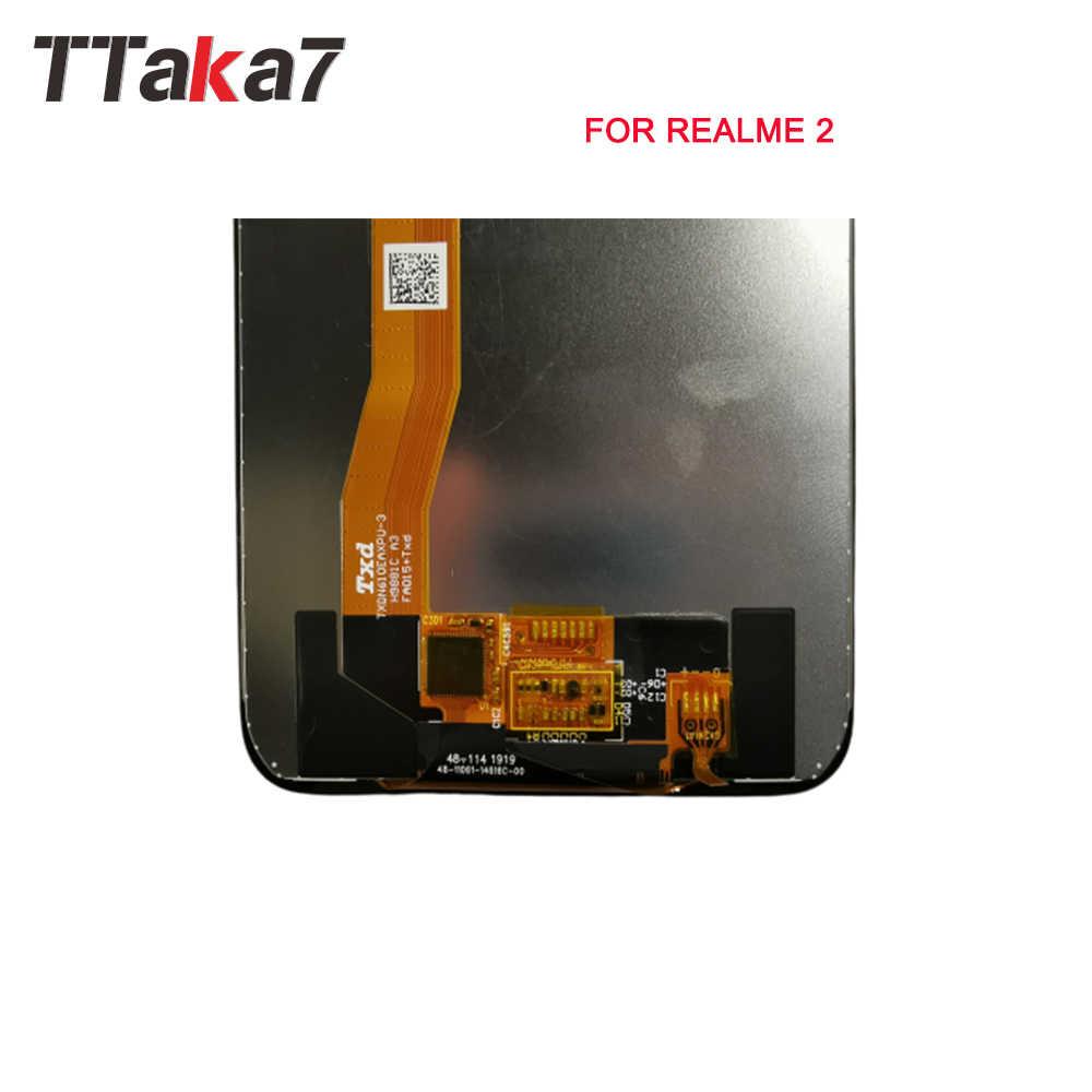 Realme ため 2 フル Lcd ディスプレイのタッチスクリーンデジタイザアセンブリ交換 6 インチ液晶新 Realme 2 液晶画面 100% テスト