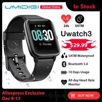 UMIDIGI Uwatch3 Smart Watch Men Women 5ATM Waterproof Fitness Tracker Sport Band Heart Rate Sleep Monitor For Android IOS Reloj