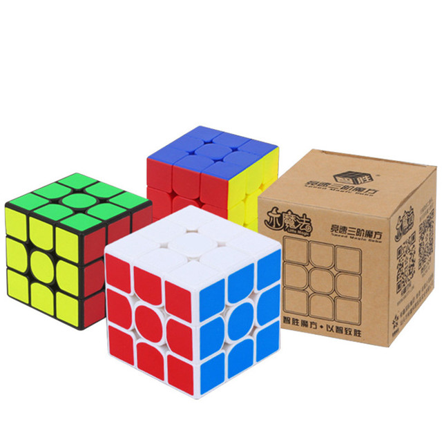 Yuxin Little Magic 3x3 Cube Black/Stickerless/white Sticker Puzzle Early Educational Toy 6