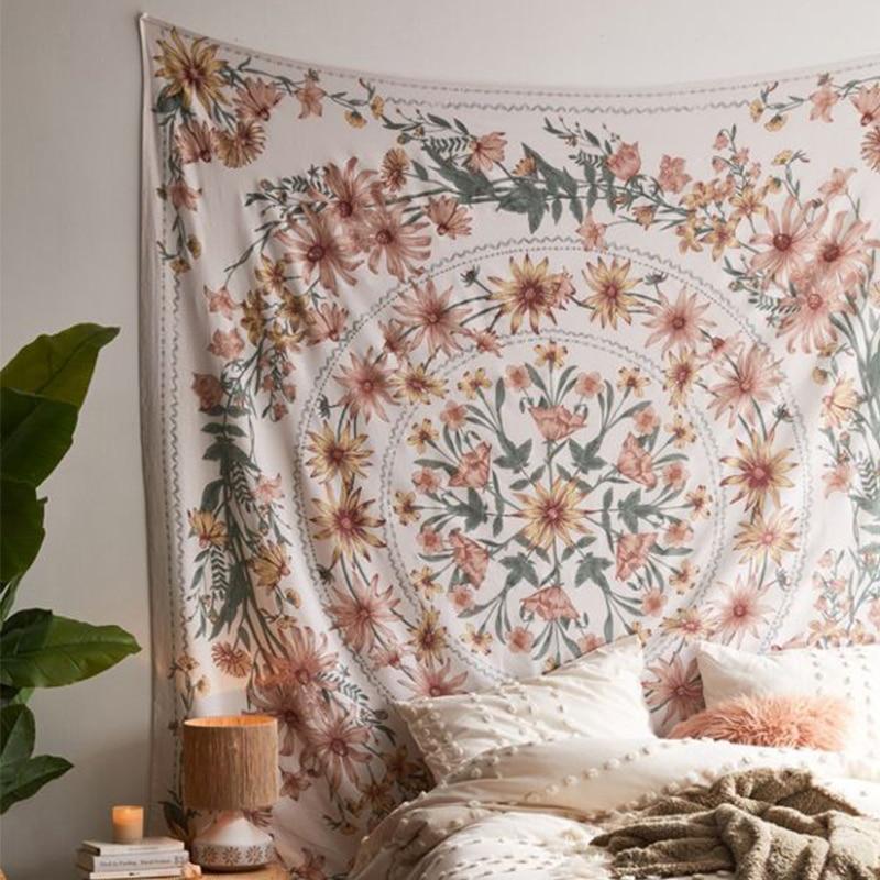 Индийская МАНДАЛА ГОБЕЛЕН Настенный Цветок Psychedelic гобелен настенный Декор для гостиной спальни богемный растительный принт|Декоративные гобелены|   | АлиЭкспресс - Гобелены с Алиэкспресс