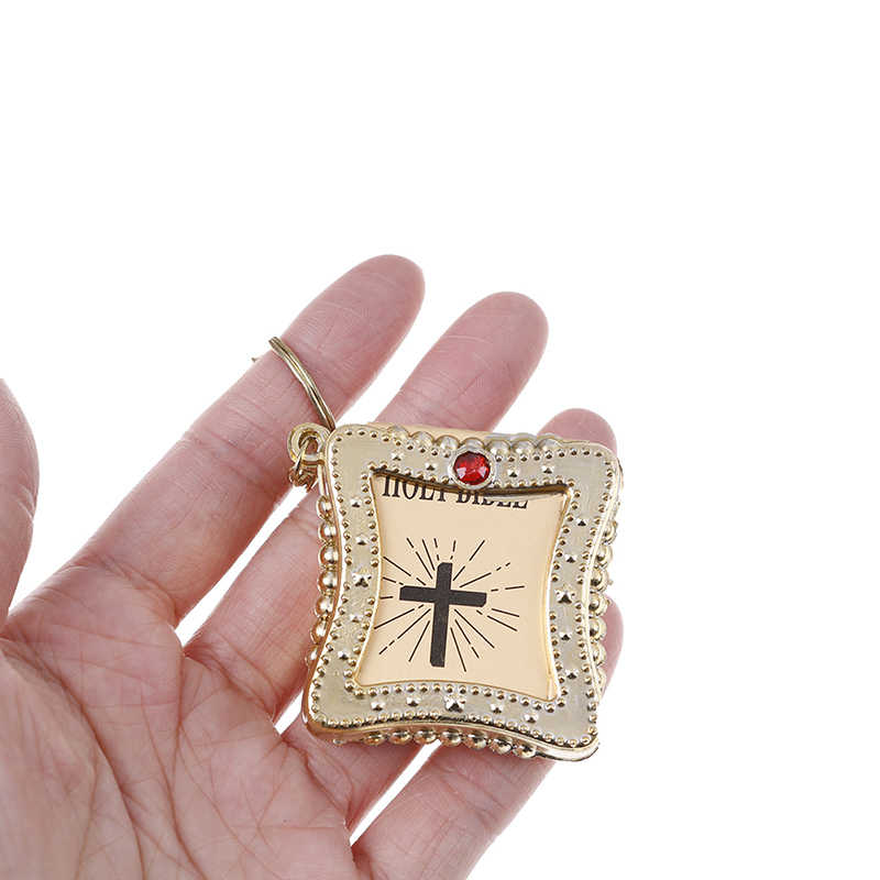 Engels Spaans Mini Bijbel Sleutelhanger Religieuze Christian Jesus Cross Vrouwen Gebed God Bless Gift Souvenirs Outdoor Tool