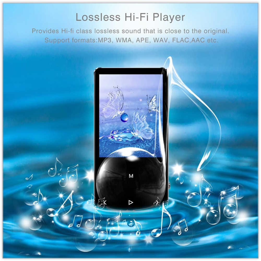 ICEICE MP3 odtwarzacz z Bluetooth klawisze dotykowe wbudowany głośnik 8GB 16GB 32GB 40GB HiFi przenośny odtwarzacz Walkman radio FM nagrywania MP 3