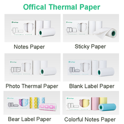 PeriPage Officical Thermal Paper Notes, Sticker, Bear Label, White Label, Photo Paper BPA Free keep 3-10 Years