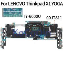 KoCoQin laptop Motherboard Für LENOVO Thinkpad X1 YOGA Core SR2F1 I7-6600U 16GB Ram Mainboard 00JT811 14282-2M 448.04P18.002M