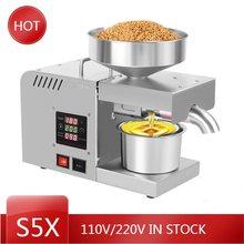 X5S 220V / 110V Intelligente Ölpresse Automatische Haushalt und Kommerziellen Edelstahl Heiße und Kalte Öl Extraktion maschine