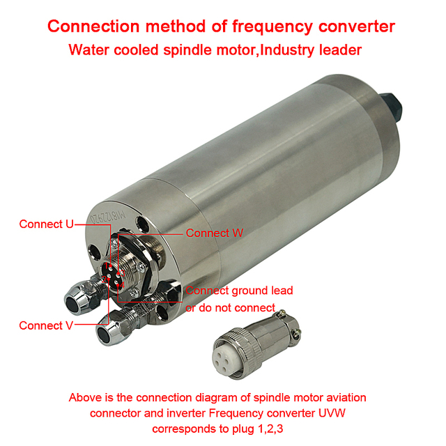 Moteur de broche de CNC refroidi à leau 2.2KW 3.0KW ER20 quatre roulement graveur fraisage pour machine de routeur de cnc