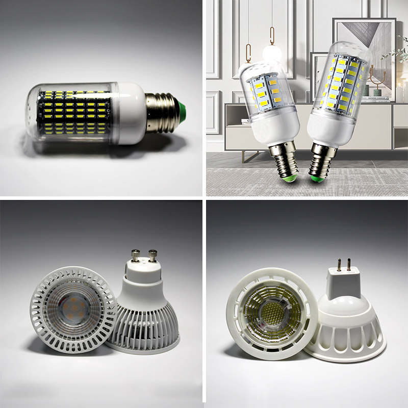 MR16 GU10 5W 6W 12V 220V Led Light Bulb Corn Lamp 24/56/72/78/38/140leds Warm White Spotlight Cob