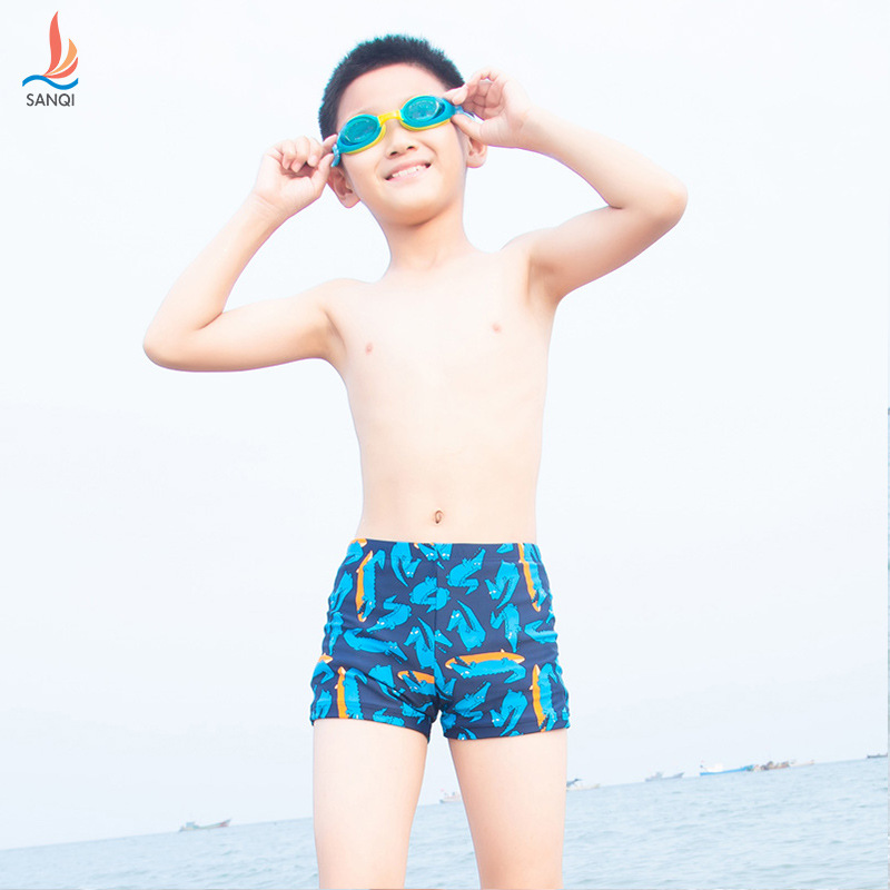 Manufacturers Direct Selling Sanqi CHILDREN'S Swimwear BOY'S Big Boy Baby Swimming Trunks South Korea New Style Cute Quick-Dry S
