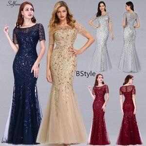 Image 5 - Nouveauté femmes élégantes robes col en v étincelle sirène moulante Maxi robes dété pour fête Vestidos De Fiesta De Noche 2020