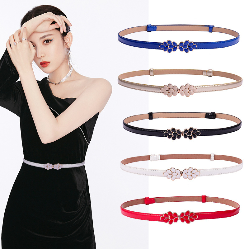 Summer new fashion female PU bright Leather adjust The adjustable Female Belts for women dresses Modeling belt female <font><b>cinture</b></font> image