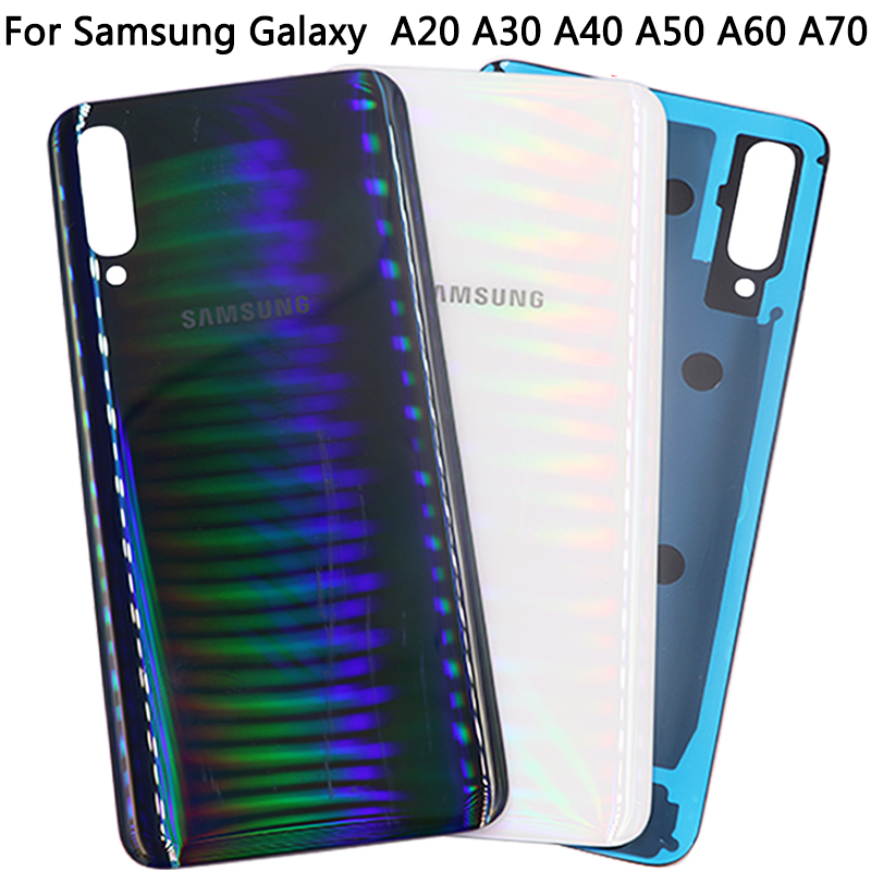 For Samsung Galaxy A20 A30 A40 A50 A60 A70 Back Cover Rear Glass Housing Case For A70 A60 A50 A40 A30 A20 Battery Cover