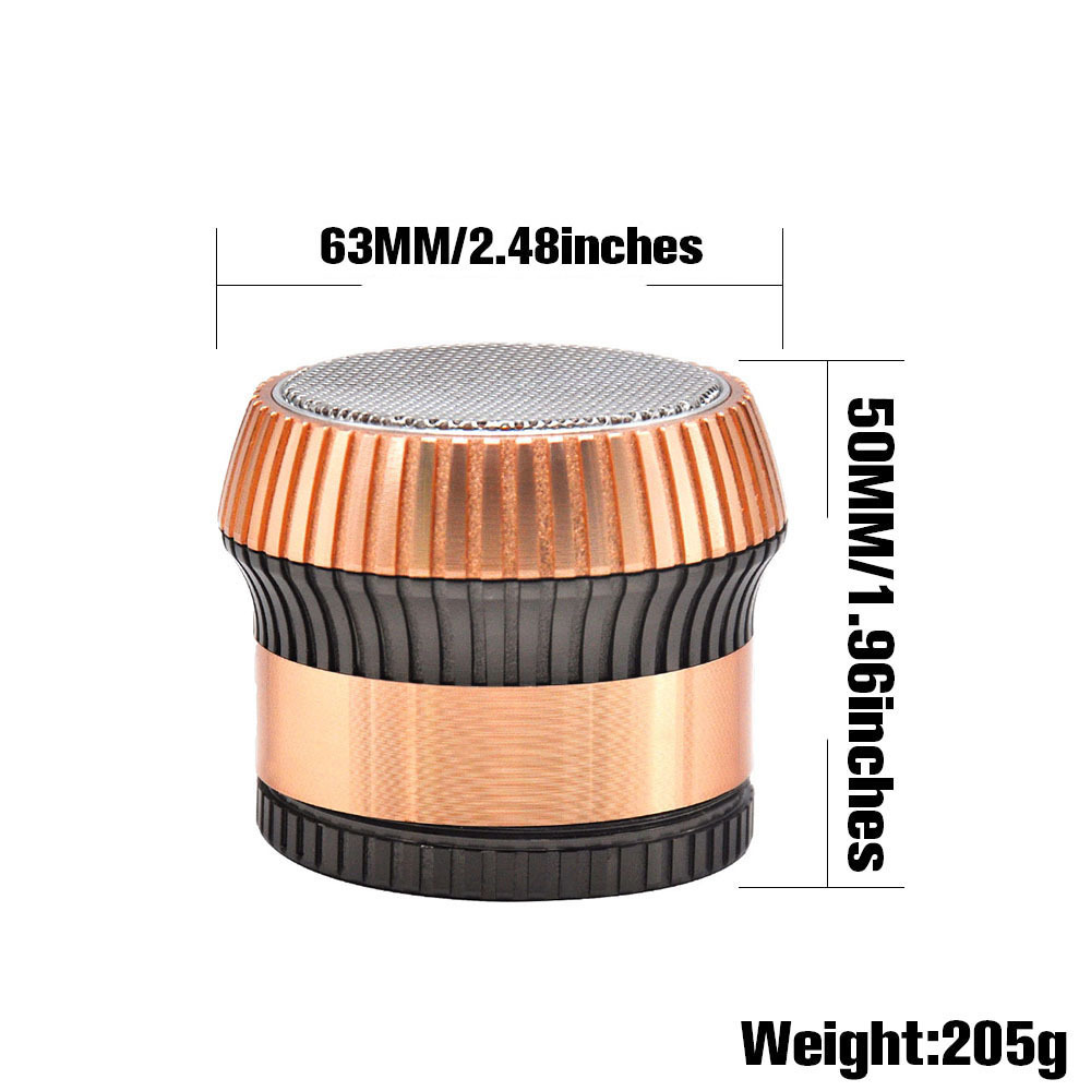 Mushroom Style Zinc Alloy Smoking Herb Grinder 63MM 4Piece Metal Tobacco Grinders Manual Cigarette Cutter Crusher 1