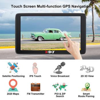 Xgody Car GPS Navigation 7 Inch Touch Screen GPS Navigator Truck Sunshade Sat Nav 256M+8G 2020 America Europe Map GPS Navigators