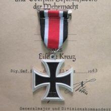 Medalla con cruz de hierro con insignia de 2. ª clase con cinta, decoración de abanico militar, Deutschland Eisernes Kreuz II, Alemania, 1939 Klasse EK2