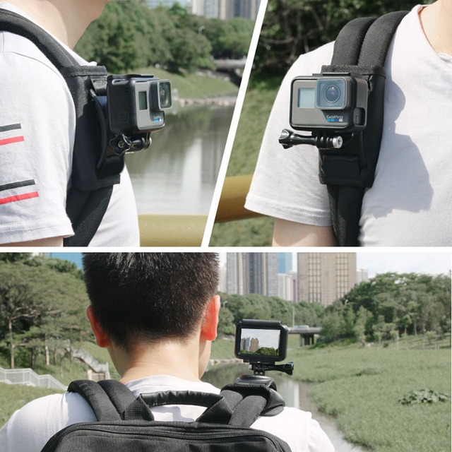 Sindax Sports Camera Backpack Clip Mount 360 Degree Rotary For Xiaomi Yi 4k Gopro Hero 7 6 5 4 Action Camera Accessories 10