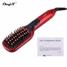 Straightening Comb Hair-Brush Ceramic-Hair Ckeyin Professional Anti-Static Electric Temperature