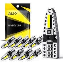 Aileo t10 led canbus w5w lâmpadas led 168 194 2smd luz da placa de licença leitura cúpula lâmpada sinal branco luzes interiores do carro auto 12v