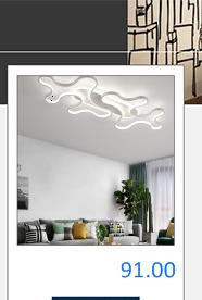 H1bb7bc61a1984523b14e7eb84aaf135aV Bedroom Living room Ceiling Lights Lamp Modern lustre de plafond moderne Dimming Acrylic Modern LED Ceiling lamp for bedroom