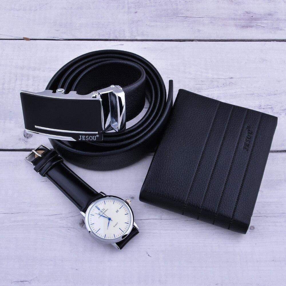 Relógio masculino carteira cinto caixa de presente