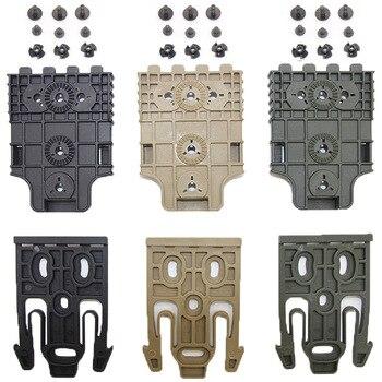 Tactical Drop Leg Band Strap QLS 19 22 Gun Holster Adapter for Safa Glock 17 Beretta M9 Hunting Pistol Waist Belt Platform 6