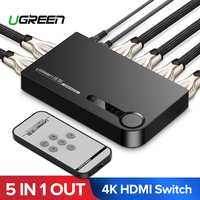 Ugreen HDMI Switch 5 Ports 4K 3D 5 x 1 HDMI Splitter for Mi Box PS4 Nintendo Switch PC 5 In 1 Out 3 Port HDMI Switcher Splitter