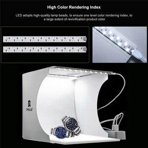 Image 2 - Mini estúdio de fotografia com luz led, luz de fundo sem sombra para fotografia, sala de fotografia, 20cm para atirar, tenda para itens pequenos