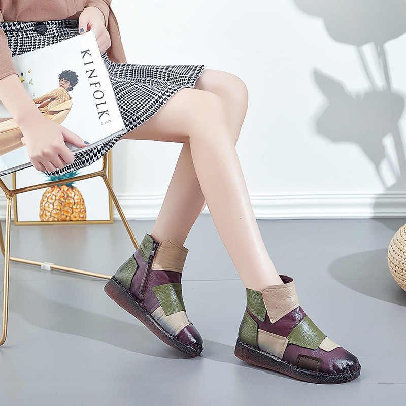 Xiuteng kadın kışlık botlar 2020 hakiki deri çizmeler kadın kışlık botlar kadın ayakkabı çizmeler düz taban Botas mujer