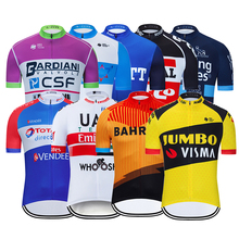2020 Summer Pro Team Men Cycling Jerseys Short Sleeve Bike Shirts MTB Cycling Clothing Ropa Maillot Ciclismo Bicycle Wear Shirts cheap Polyester Team Cycling Jersey Full Zipper Fits true to size take your normal size Batik Anti-Pilling Anti-Shrink Anti-Wrinkle