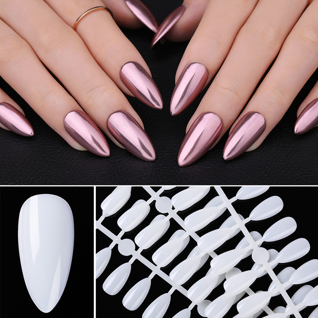 500Pcs/Box False Nail Tips Detachable Full Cover Quick Extension Mold Tips White Transparent Nail Tips Practice Display for DIY