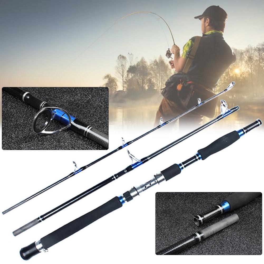 1.8/2.1m Portable 3 Section carbone télescopique canne à pêche pôle poisson attirail outil canne à pêche pôle poisson attirail outil