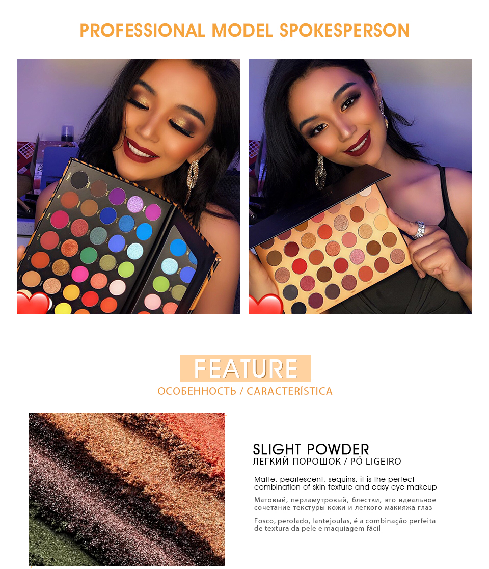 IMAGIC 35 color eyeshadow palette waterproof matte glitter eye shadow primer luminous eyeshadow ladies gift Qual Codigo Rastreio 6