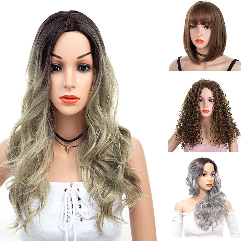 Cheap Synthetic Women Wigs For TPE Silicone <font><b>Sex</b></font> <font><b>Doll</b></font> From 120CM to <font><b>175CM</b></font> image