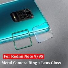 Pierścień ochronny obiektywu aparatu + szkło hartowane dla Xiaomi Redmi Note 9 s 9 Pro Max osłona ekranu obiektywu dla Redmi Note 9 s 9 S