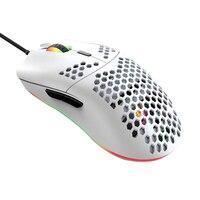 Gaming mouse design ergonômico 12000 dpi prático sensível 7 teclas com fio favo de mel escudo leve acessório do computador e esportes