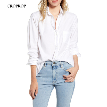 Women White Pocket Blouses Fashion Long Sleeve Turn Down Collar Office OL Shirt Leisure Borgonha Blouse Shirt Casual Tops 2020 1