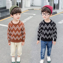 Hot Sale Spring/Autumn Children Wave Sweaters Cotton 100% Good Price and Quality Boys For 2-7 years Kids Knitwear Tops